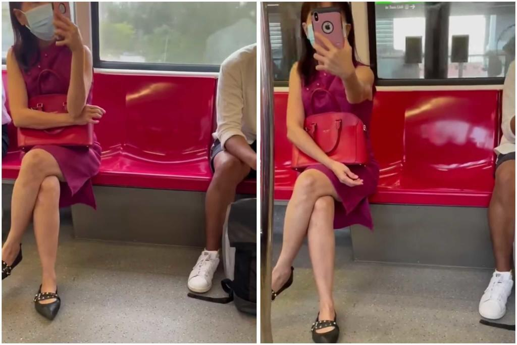 Tan Beow Hiong was captured in a viral video filming other commuters and making racist remarks on an MRT train in April 2021. ― Picture via social media/TODAY