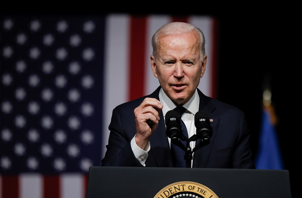 US President Joe Biden delivers remarks on the centennial anniversary of the Tulsa race massacre during a visit to the Greenwood Cultural Center in Tulsa, Oklahoma June 1, 2021. ― Reuters pic