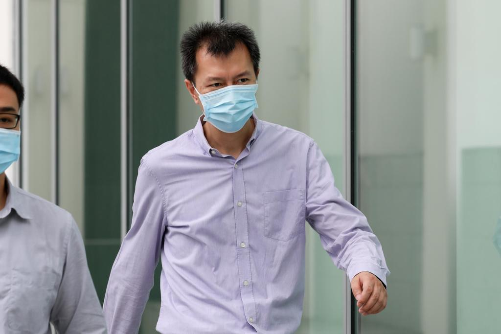 Bai Fan leaving the State Courts on May 27, 2021. — TODAY pic