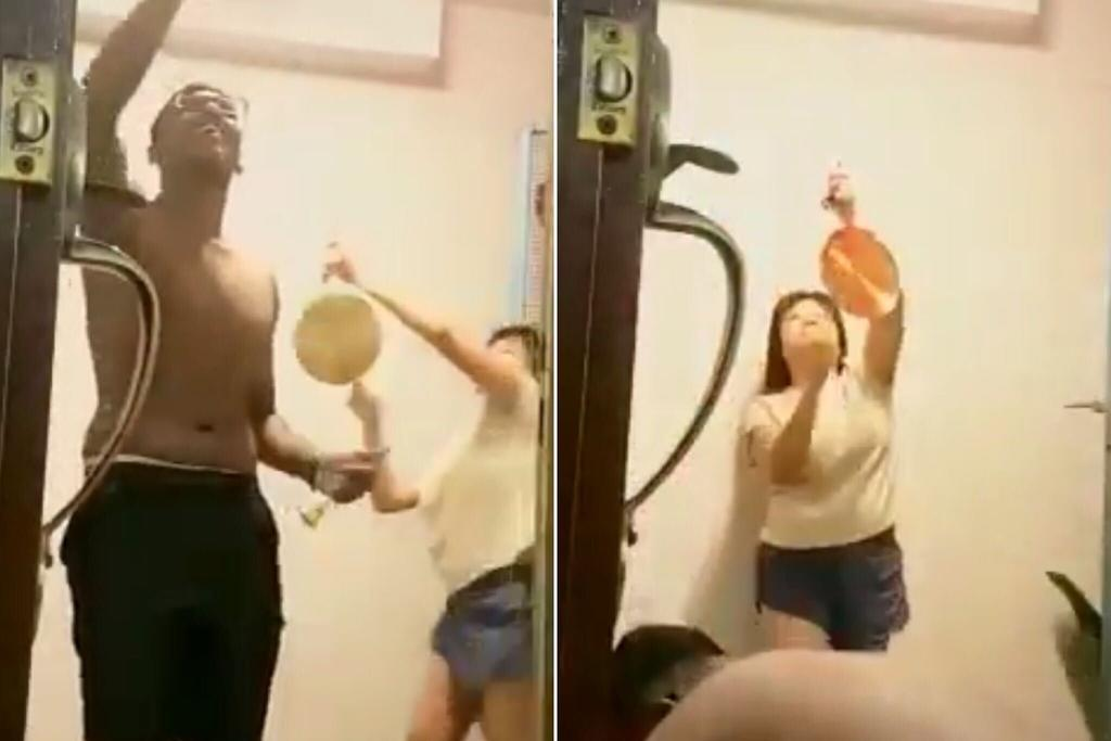 Screengrabs from a video posted by Facebook user Livanesh Ramu.