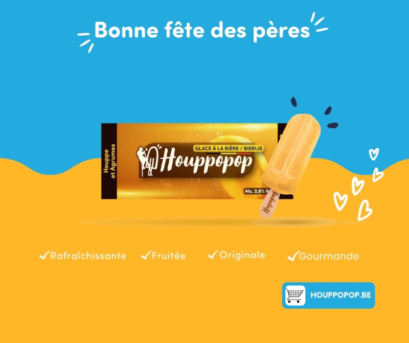 A brewery in Namur, Belgium, has joined forces with an ice-cream-maker to craft a beer ice pop. — Picture courtesy of Houppopop via ETX Studio