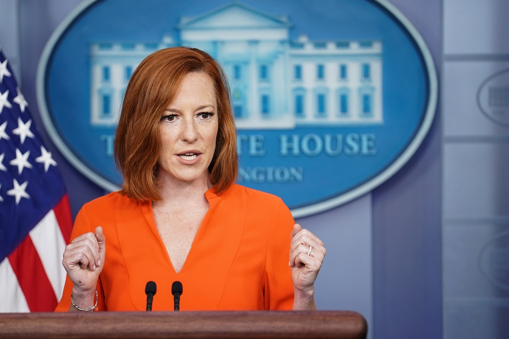 White House Press Secretary Jen Psaki holds a press briefing at the White House in Washington June 21, 2021. ― Reuters pic