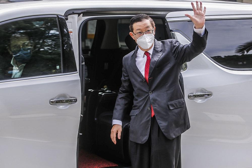 DAP secretary-general Lim Guan Eng is seen outside Istana Negara in Kuala Lumpur June 9, 2021. ― Picture by Hari Anggara