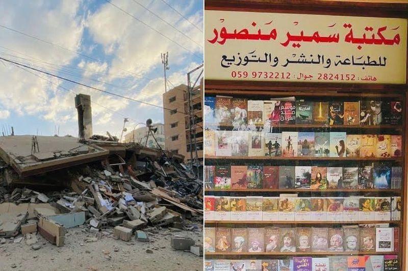 The bookshop was blown up by Israeli missiles last month. — Picture via Instagram/samir_mansour_bookshop