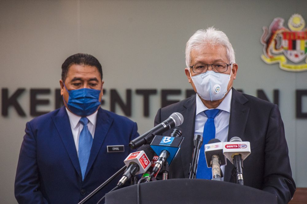 Home Minister Datuk Seri Hamzah Zainudin said human trafficking was a form of modern-day slavery that denied the freedom, dignity and human rights of millions of victims around the world. — Picture by Shafwan Zaidon