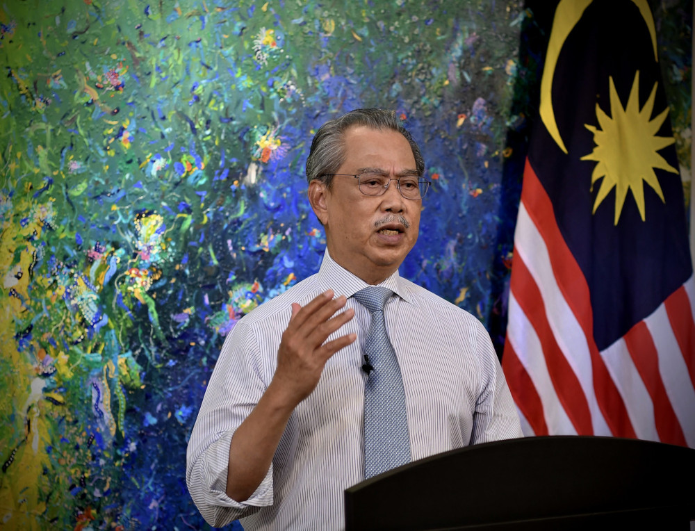 Tan Sri Muhyiddin Yassin slammed his detractors that he wanted to delay the Parliamentary sitting and said he will continue to uphold the principles of parliamentary democracy and constitutional monarchy. — Bernama pic