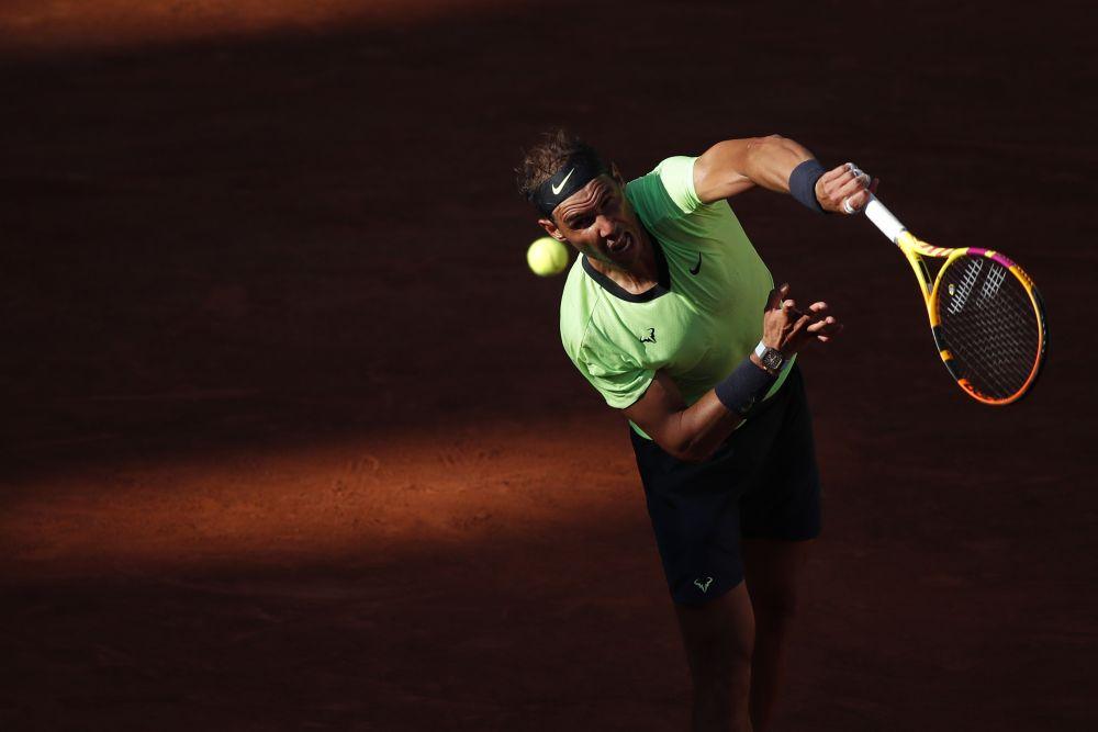 Spain's Rafael Nadal in action during his first round match against Australia's Alexei Popyrin at Roland Garros, Paris June 1, 2021. — Reuters pic