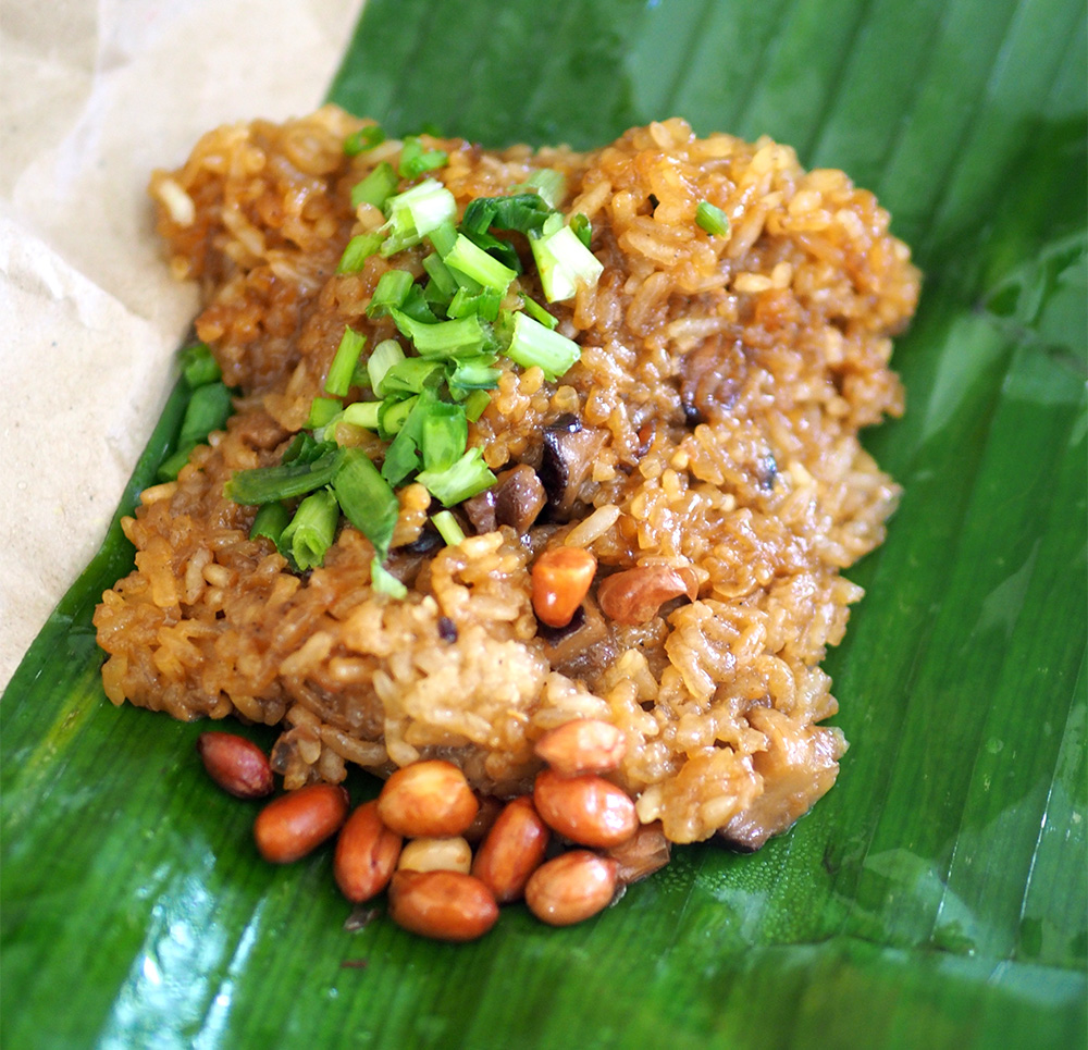 Don't miss out on the excellent glutinous rice here that is soft and tasty.