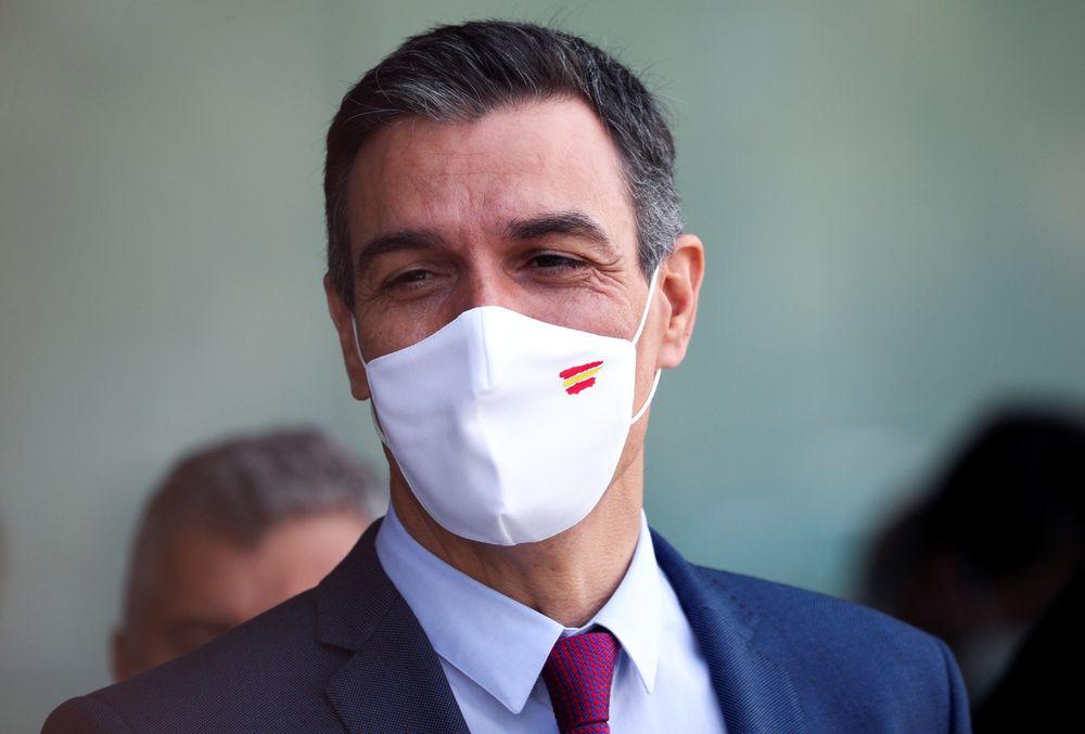 Spanish Prime Minister Pedro Sanchez attends the Cercle d'Economia conference in Barcelona, Spain, June 18, 2021. — Reuters pic