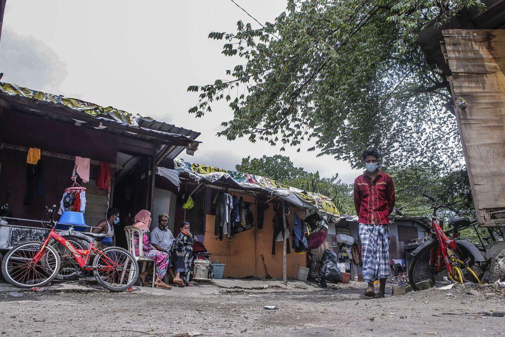 File picture shows a view of a Rohingya settlement in Bandar Baru Sentul, Kuala Lumpur June 13, 2021. — Picture Hari Anggara