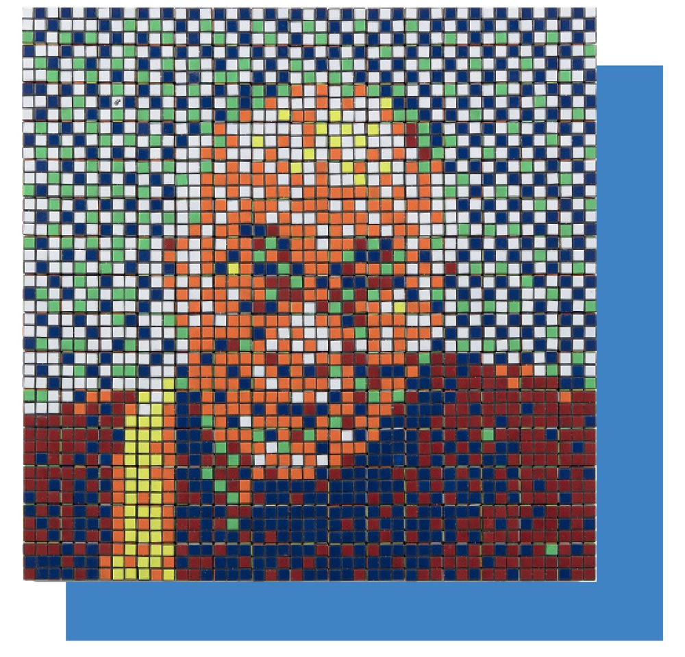 Invader's 'Rubik Dalai Lama' goes under the hammer at Artcurial in July. ― Picture courtesy of Artcurial via ETX Studio