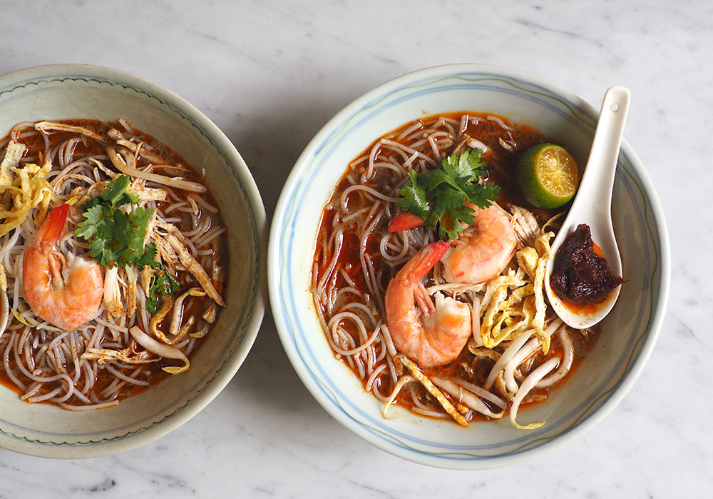 Travel to Sarawak with this peppery laksa broth.