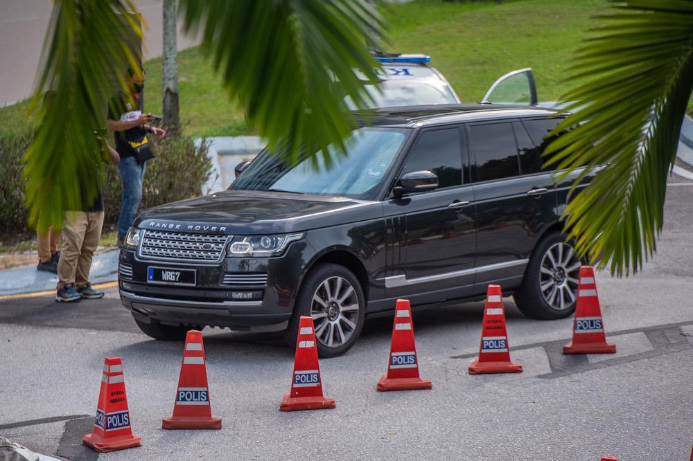 A vehicle ferrying Parti Warisan president Datuk Seri Mohd Shafie Apdal is seen leaving Istana Negara in Kuala Lumpur June 10, 2021. — Picture by Shafwan Zaidon