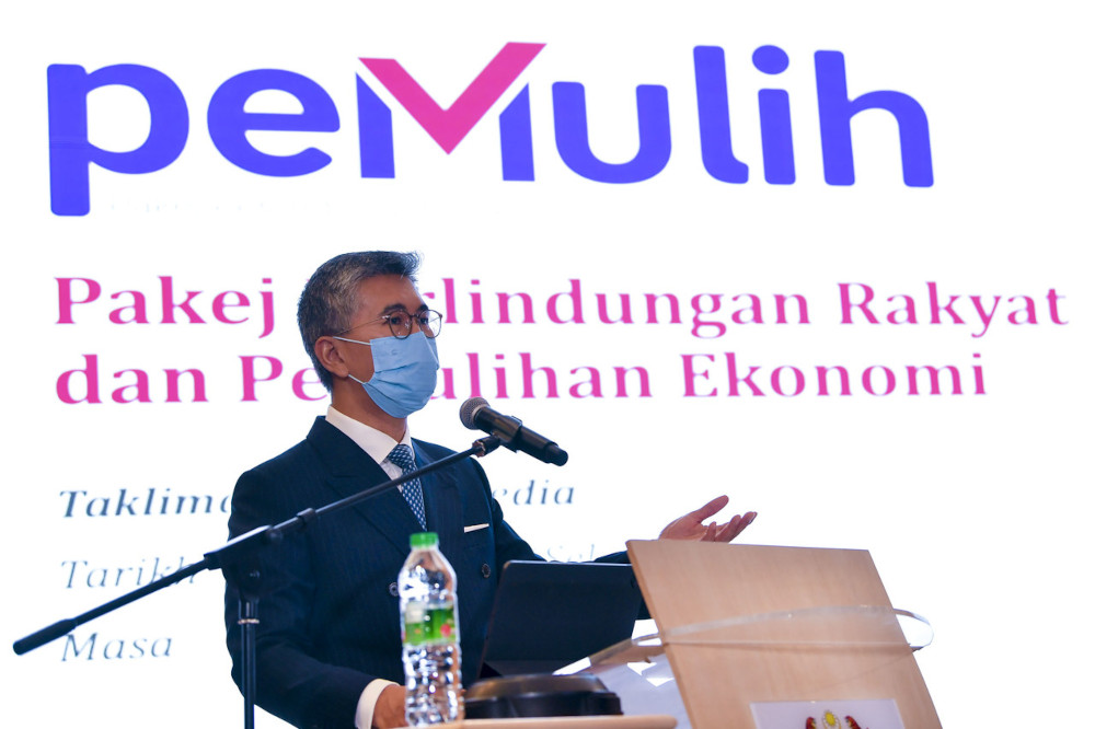 Finance Minister Datuk Seri Tengku Zafrul Abdul Aziz said the remaining balance from the RM80 million allocation under the National People's Well-Being and Economic Recovery Package (Pemulih) for the food basket assistance would be distributed to the Orang Asli community in the country. — Bernama pic