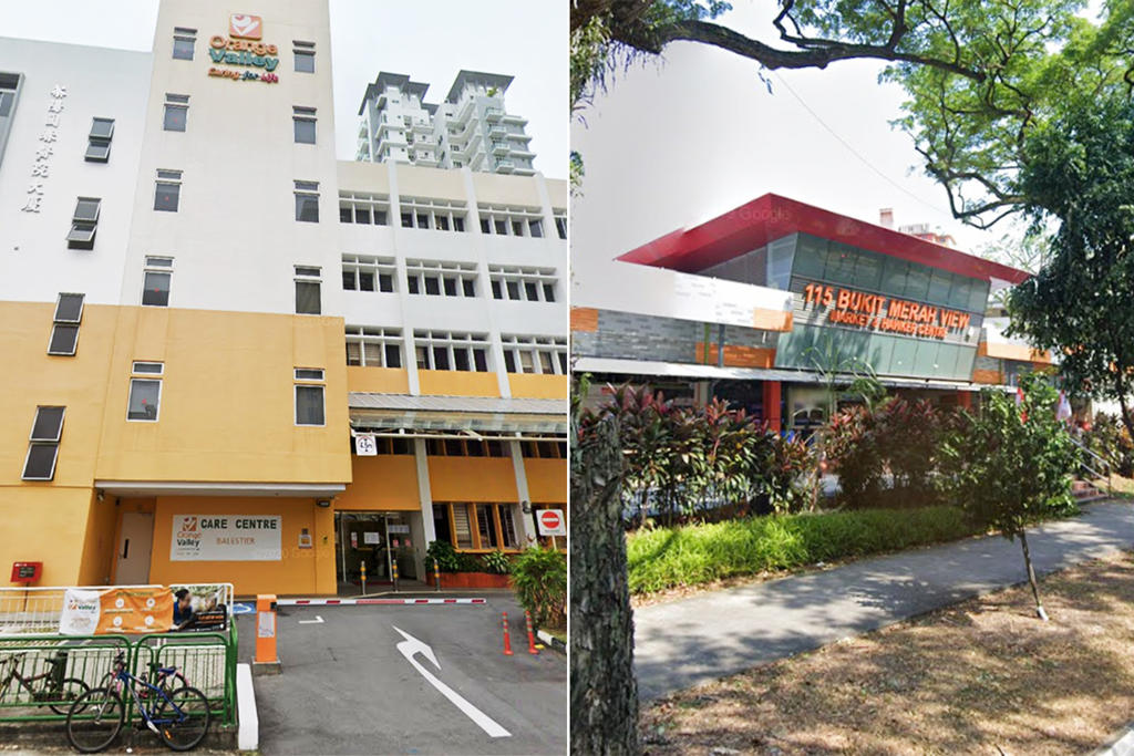 A 29-year-old nursing aide from Orange Valley Nursing Home (left) and a 74-year-old worker at the Bukit Merah View Market and Hawker Centre (right) were two of the new Covid-19 cases reported on June 10, 2021. ― Picture via Google Maps