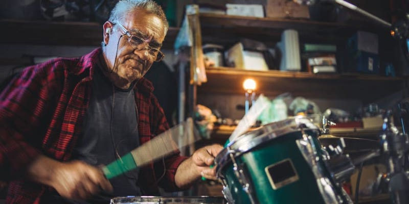 A new American study shows the cognitive benefits of playing an instrument, even later in life. — Milan Markovic / Getty Images via ETX Studio