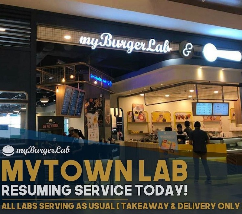 myBurgerLab's stores will be closed from July 26 to July 30 for its employees to take a break. — Picture via instagram/myburgerlab