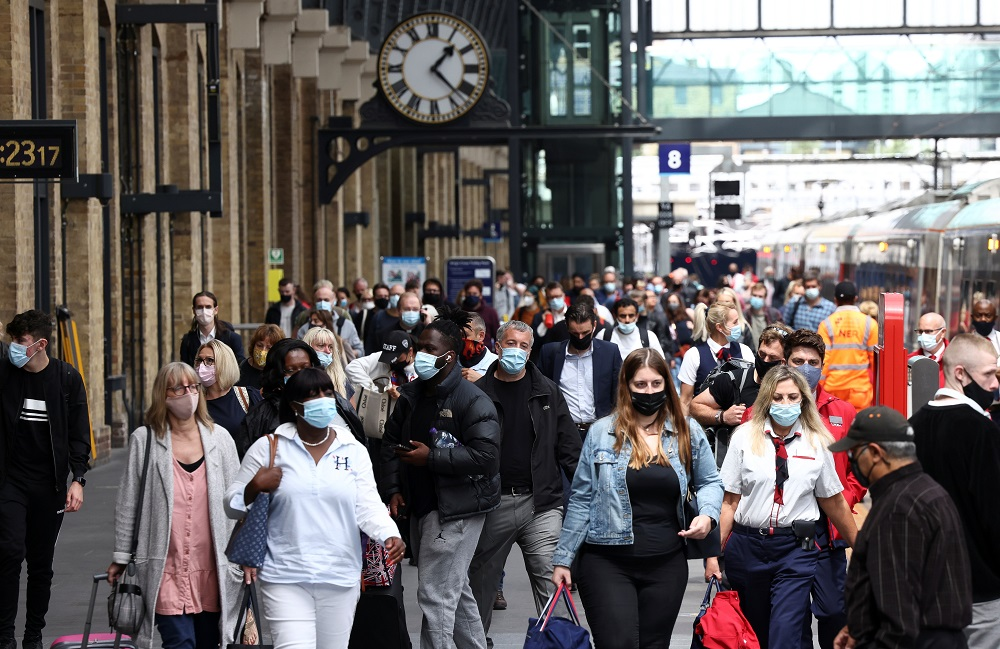 Britain's 42,776 new Covid-19 cases are the highest number since mid-July. — Reuters pic