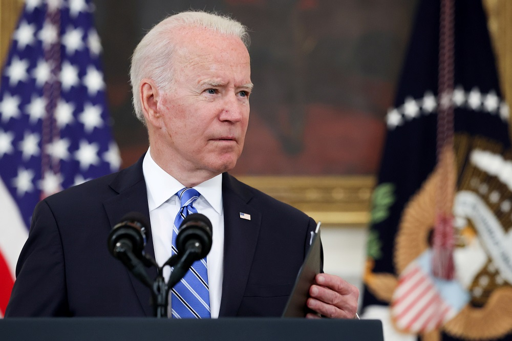 President Joe Biden says the United States has distributed more than 100 million Covid-19 vaccine doses overseas ― more than all other countries combined. — Reuters pic