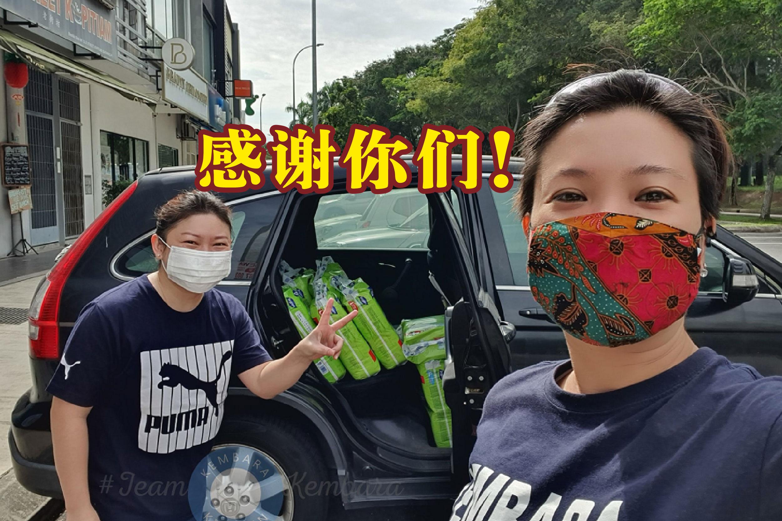 肯巴拉厨房联合创办人陈毅琳(右)透露,将会为陷困母亲提供3个月的帮助。-精彩大马制图-