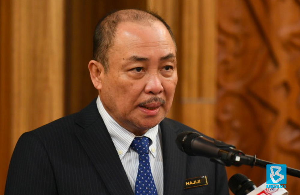 Sabah Chief Minister Datuk Hajiji Noor said action would be taken against heads of government departments and agencies found delaying the implementation of development projects in the state. — Bernama pic