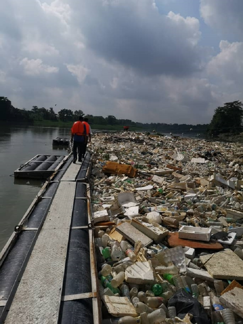 Waste collected at one of SMG's log boom. — Picture by Selangor Maritime Gateway
