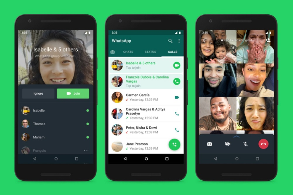 WhatsApp calls can only support eight people at a time.  — Picture courtesy of Facebook/WhatsApp via ETX Studio