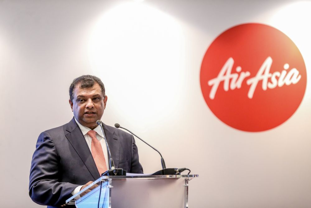 Tony Fernandes said he called the female employee shortly after the meeting to apologise for Bijleveld's conduct. — Picture by Firdaus Latif