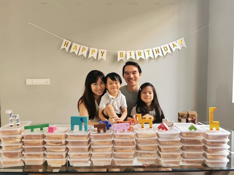 Jarrett Ho managed to help the needy with help from his parents and sister. — Picture courtesy of Tan Chin Yi