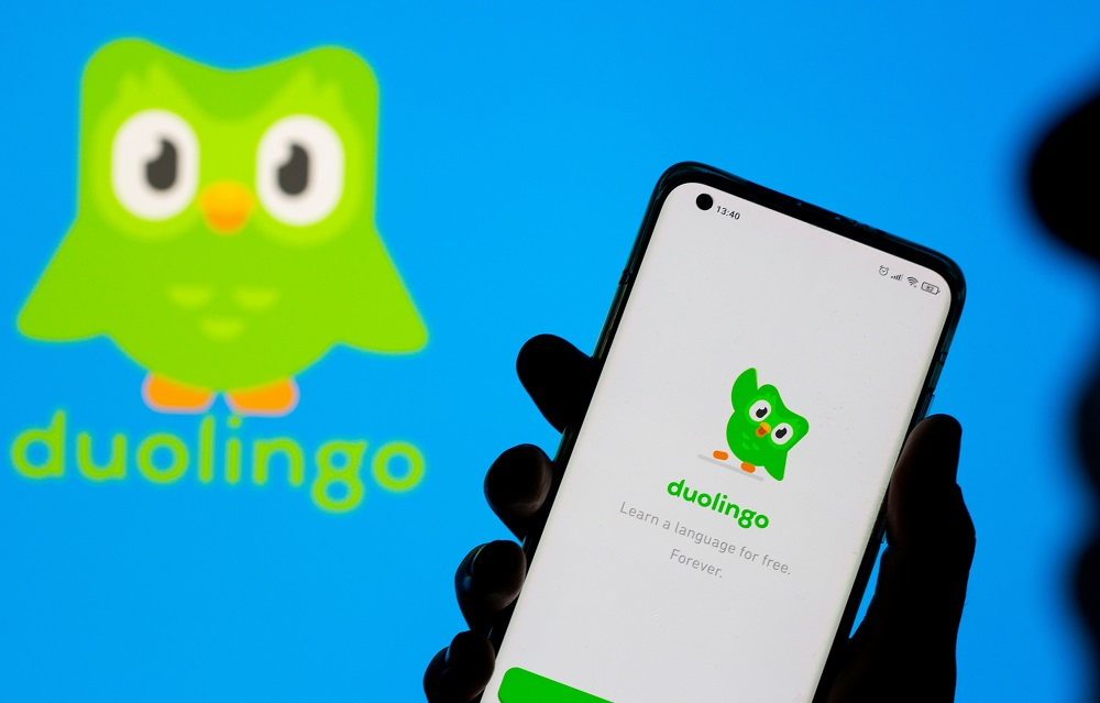 Duolingo's stock opened at US$141.4 per share, blowing past the initial public offering price (IPO) of US$102 per share, which crossed the top end of its target range. ― Reuters file pic
