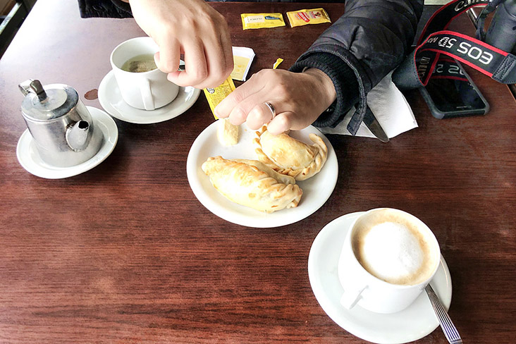 You can have empanadas any time of the day in Argentina.