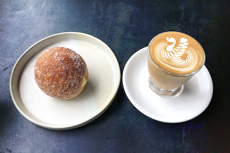 Treat yourself to a 'bombolone' and a piccolo latte from Ground Coffee in Damansara Uptown.