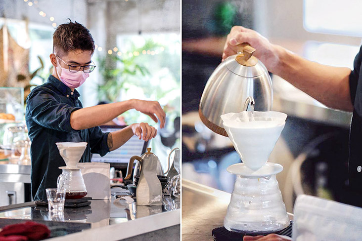 Teh had previously worked as a barista at many places to deepen his knowledge of brewing coffee.