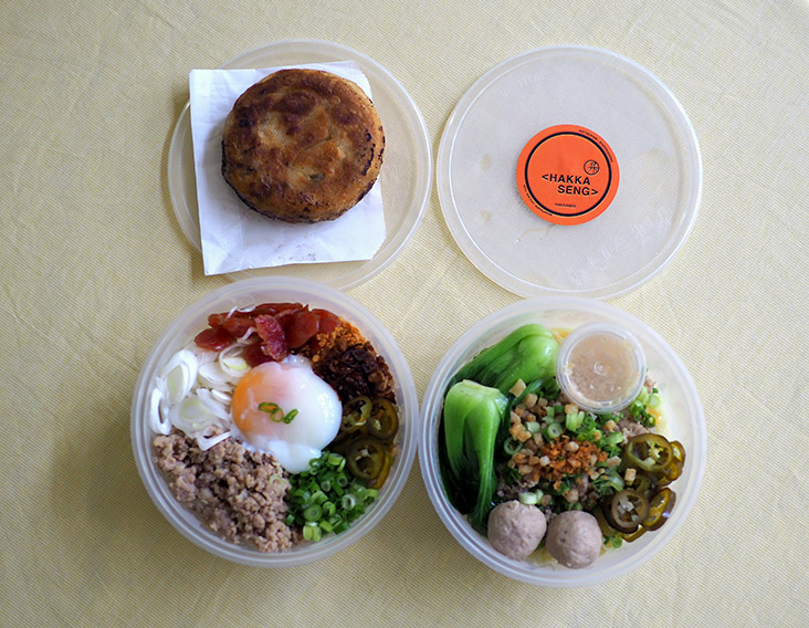 You can opt to eat the noodles in the takeaway containers too if you don't want to wash extra dishes