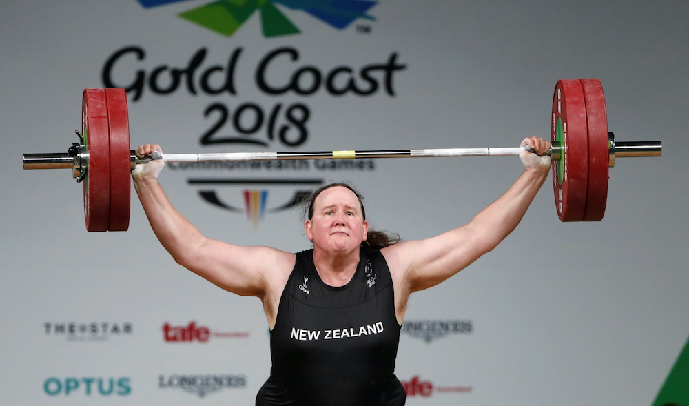 Laurel Hubbard of New Zealand competes in the Women's +90kg final during the Gold Coast 2018 Commonwealth Games at the Carrara Sports Arena 1 in Gold Coast, Australia, April 9, 2018. — Reuters pic