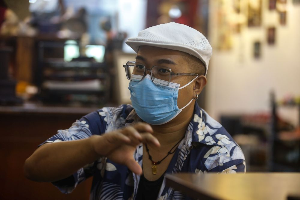 Streetdancer Low Sawming speaks during an interview with Malay Mail in Bagan Jermal  July 9, 2021. — Pictures by Sayuti Zainudin