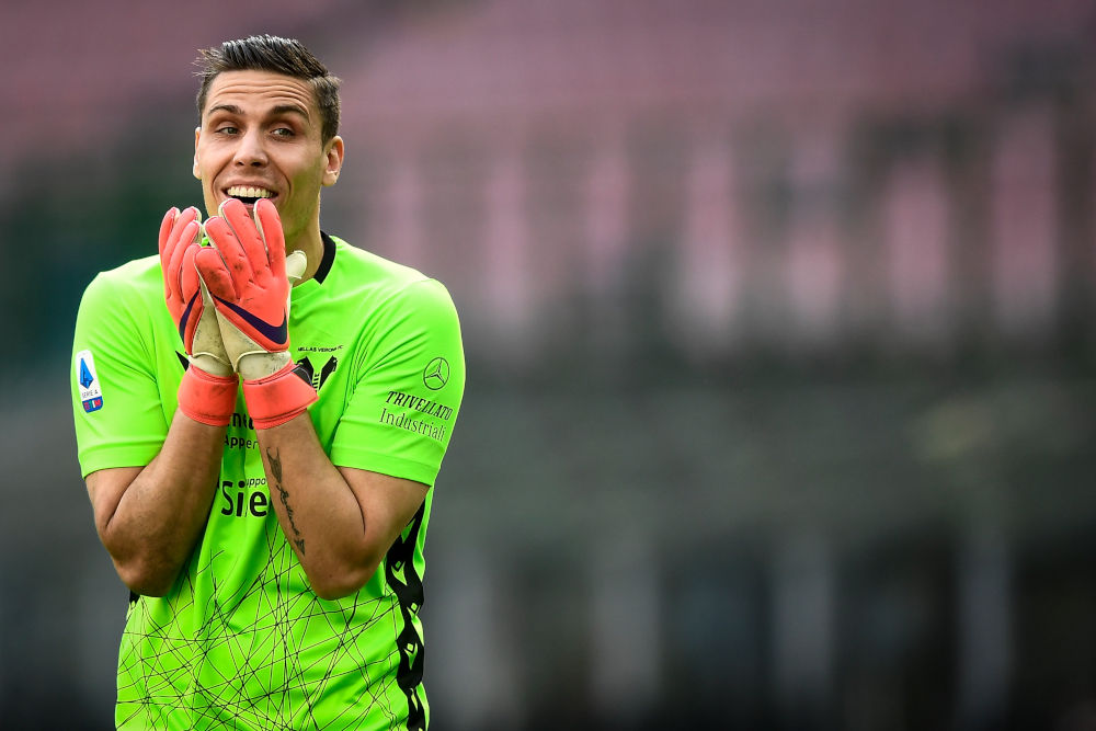 Marco Silvestri of Hellas Verona reacts during the Serie A football match between FC Internazionale and Hellas Verona. — Nicolo Campo/Sipa USA pic via Reuters