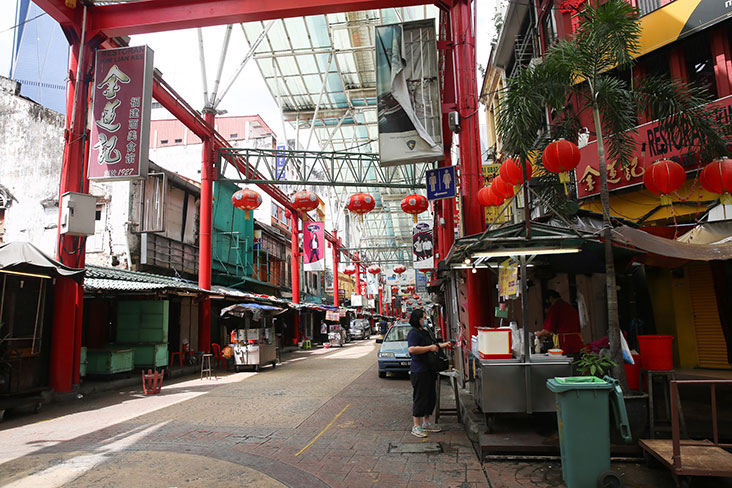 Once a busy place for shopping and food, Petaling Street is quiet because of the pandemic – Picture by Choo Choy May