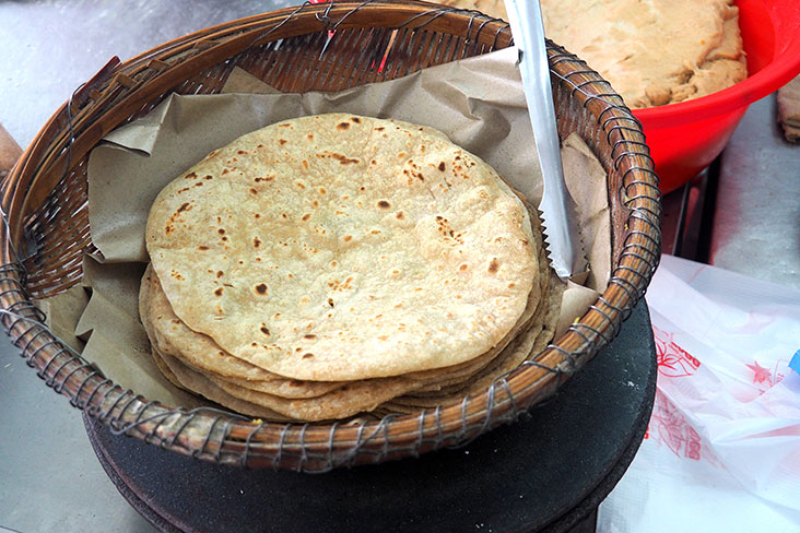 Santa Chapati House serves up fluffy 'chapatis' that are freshly prepared on a hot griddle