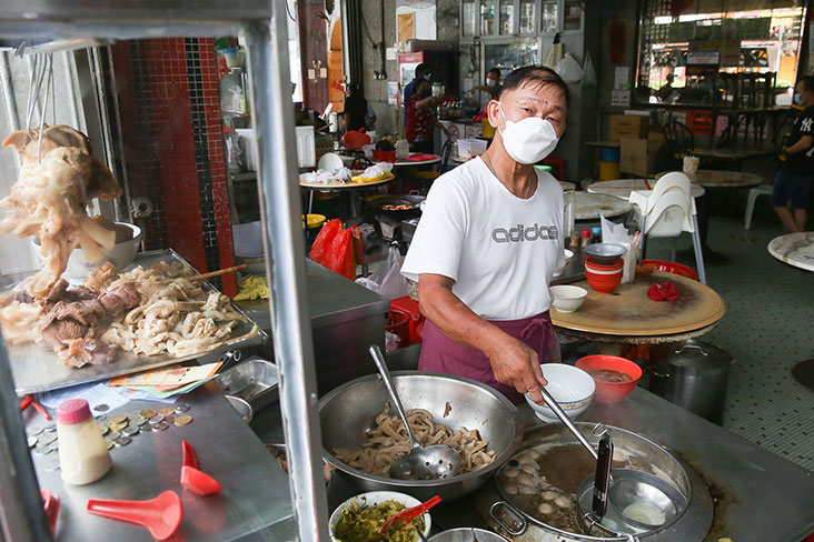 The famous beef noodles from Lai Foong Restaurant can be ordered for delivery