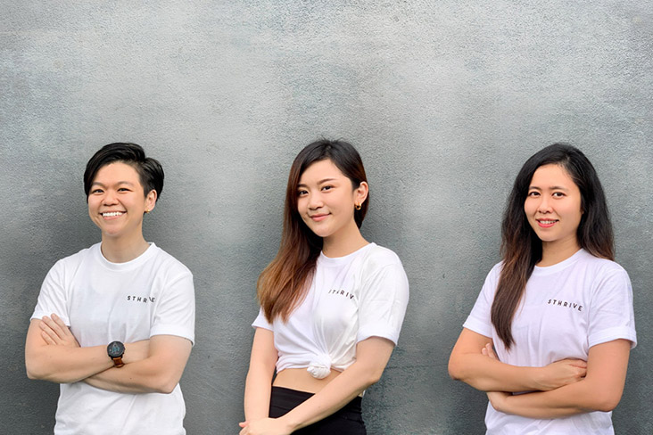 The team behind Sthrive (from left to right): Yeo Lee Ching, Joe Yeo and Kelly Giam.