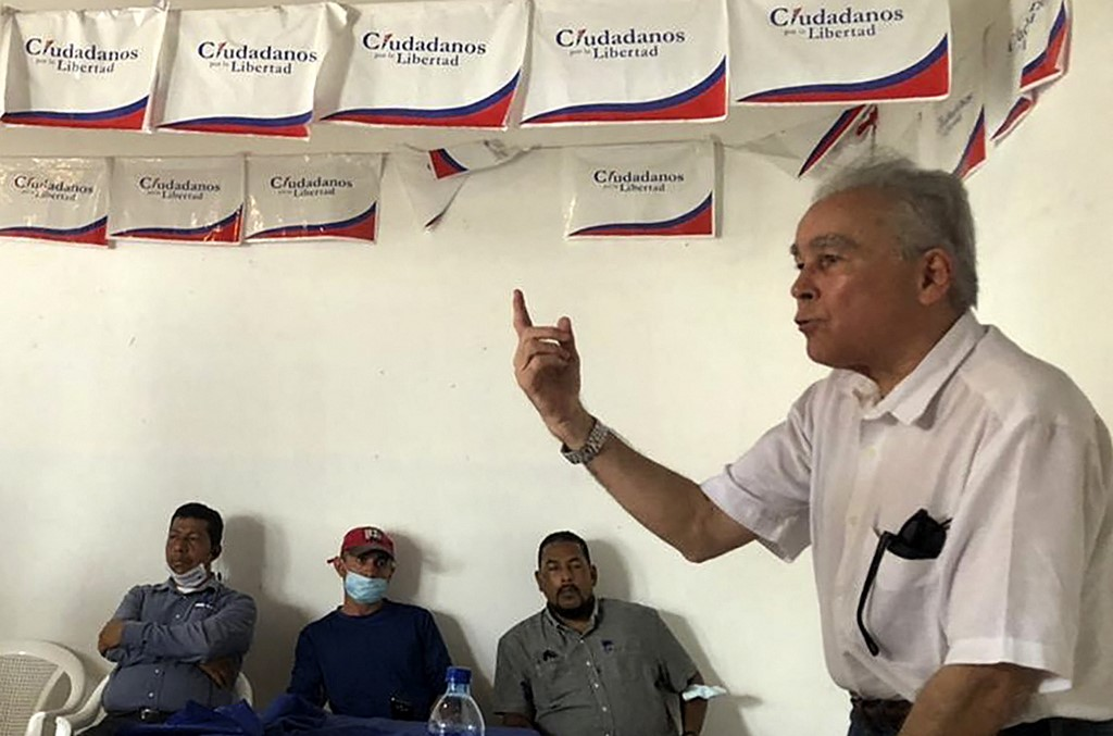 Undated handout photo released by the CXL party of its presidential candidate Noel Vidaurre (right) in Managua. Vidaurre was sent to home arrest on July 24, 2021, the police informed, uplifting to 28 the opponents to the government of Nicaraguan President Daniel Ortega who were arrested. — AFP pic