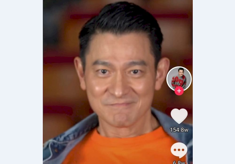 Hong Kong superstar Andy Lau refused to take Hollywood roles that degrade Chinese. — Screencapture from Andy Lau's Douyin
