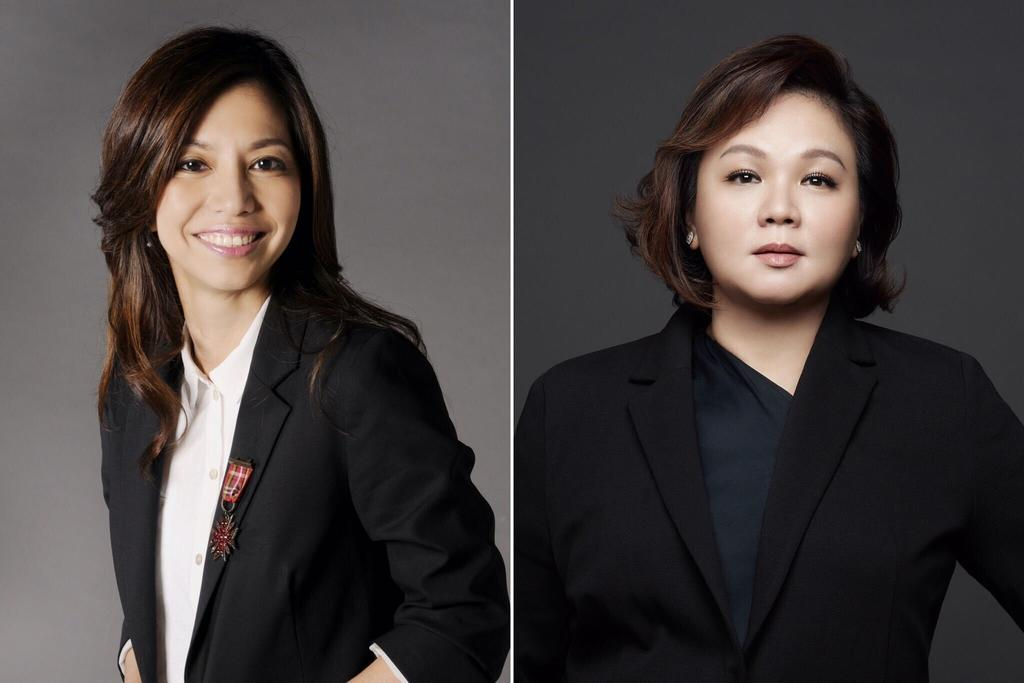 Mediacorp's former chief content officer Doreen Neo (left) was appointed to a newly created role of chief talent officer while Virgina Lim (right), who joined from regional streaming platform Viu, took over as Chief Content Officer. — Picture courtesy of Mediacorp via TODAY