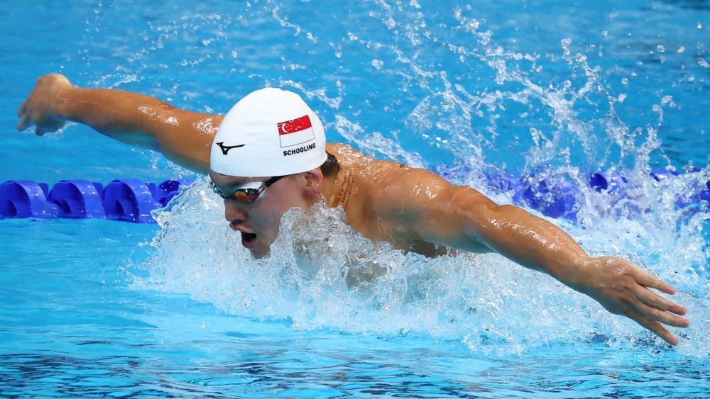 Joseph Schooling of Singapore in action during the men's 100m butterfly heats at the Tokyo Aquatics Centre July 29, 2021. — Reuters pic