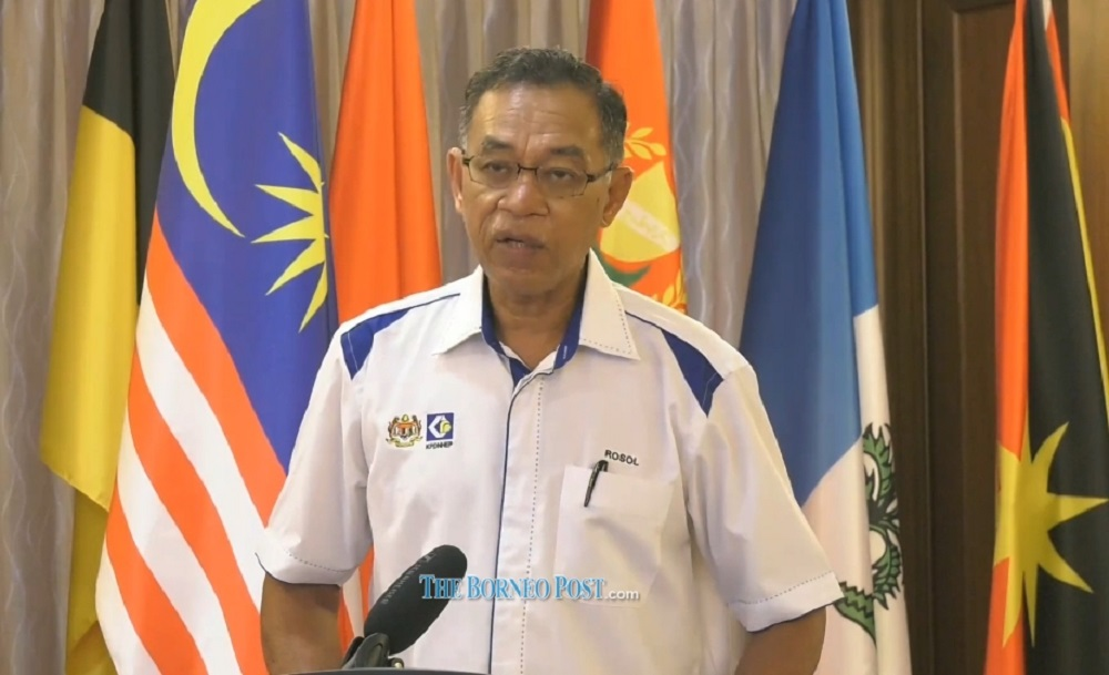 Domestic Trade and Consumer Affairs Deputy Minister Datuk Rosol Wahid delivers his speech before virtually launching the campaign. — Borneo Post Online pic