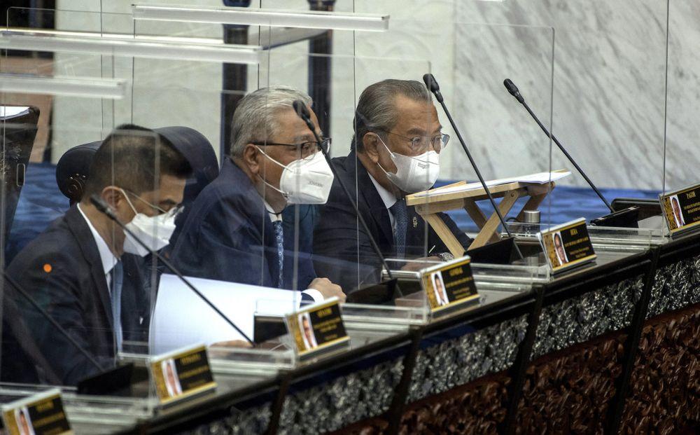 Prime Minister Tan Sri Muhyiddin Yassin is pictured at Dewan Rakyat during a special Parliament sitting in Kuala Lumpur July 26, 2021. — Bernama pic