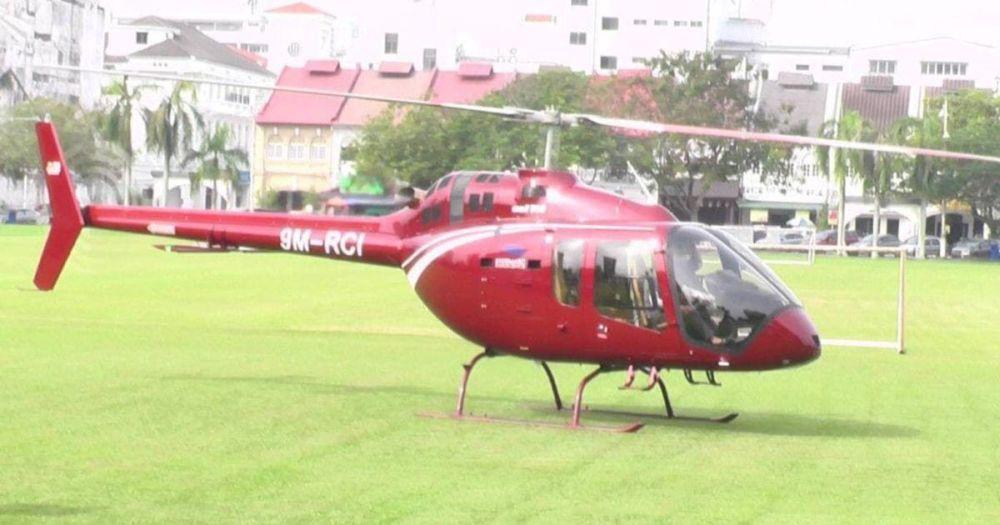 民航局等机构调查直升机跨州至怡保买扁担饭事件。-图取自社交媒体-