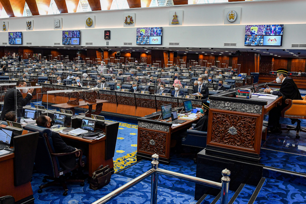 The wind-up was instead handled by Finance Minister Datuk Seri Tengku Zafrul Abdul Aziz on behalf of the prime minister. — Malaysia Information Department/Nazri Rapaai handout pic via Reuters