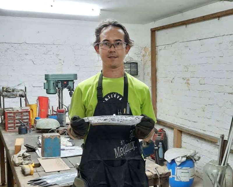 Ahmad Nadir Askandar started making 'parangs' as a hobby in 2013. — Picture courtesy of Ahmad Nadir Askandar